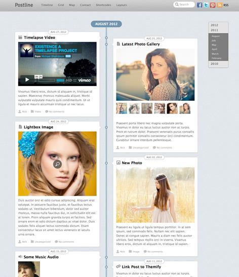 wordpress-timeline-tema