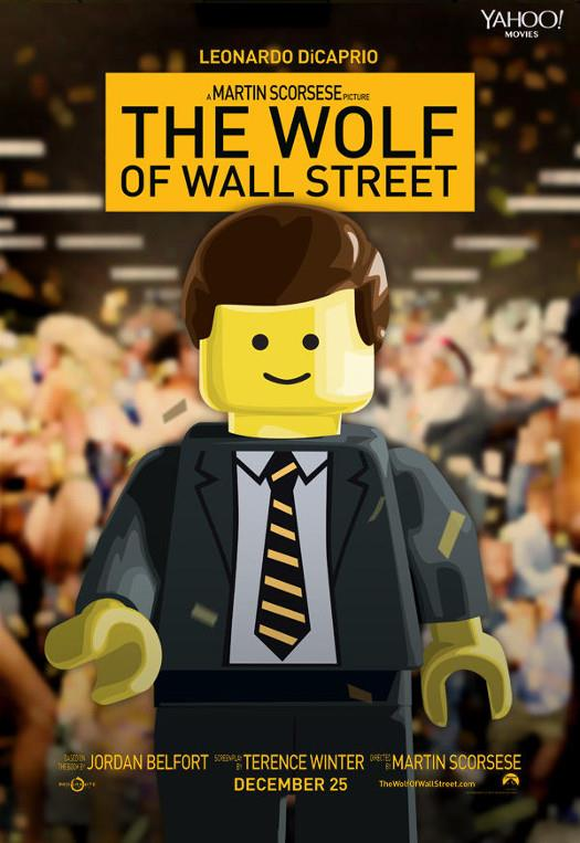 The Wolf Of Street lego poster